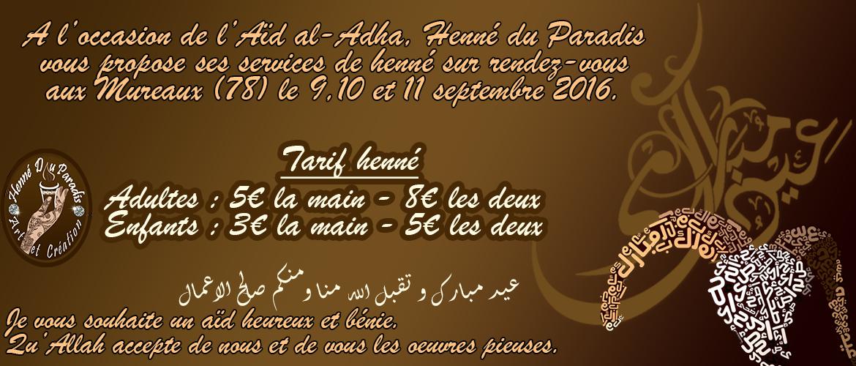 Prestation henné à l'occasion de Aïd al-Adha aux Mureaux (78)